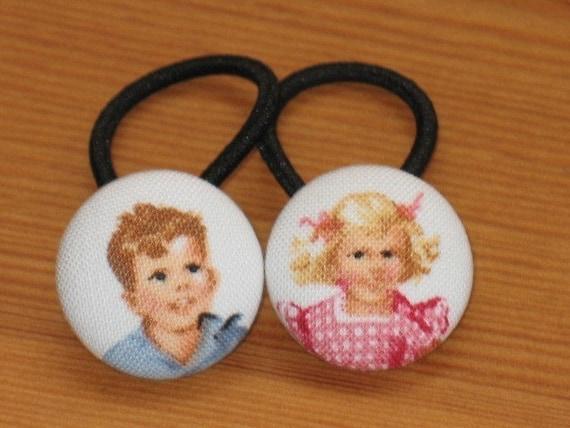 Dick and Jane Ponytail Holders...Perfect for Preschool, Kindergarten and School