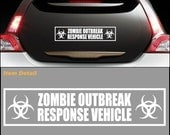 ZOMBIE RESPONSE VEHICLE Zombieland Bumper Sticker Decal - StickerX
