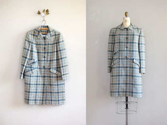 pendleton coat / plaid wool coat / Pendleton Plaid
