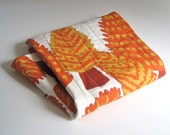 BABY QUILT Marimekko gold rust forest trees with organic cotton / modern kids bedding (ONLY 2 - Ready to Ship) - SewnNatural