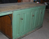 Antique Primitive Wood Kitchen Island - docsarchitecturals