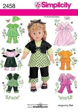 American Girl 18 Inch Doll Clothes Patterns, Furniture, Imperial