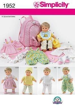 "Clothing Patterns for 15"" Bitty Baby Doll- - Primrose Lane Patterns"