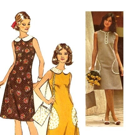 Vintage dress, sailor hat, and bag pattern | Flickr - Photo Sharing!