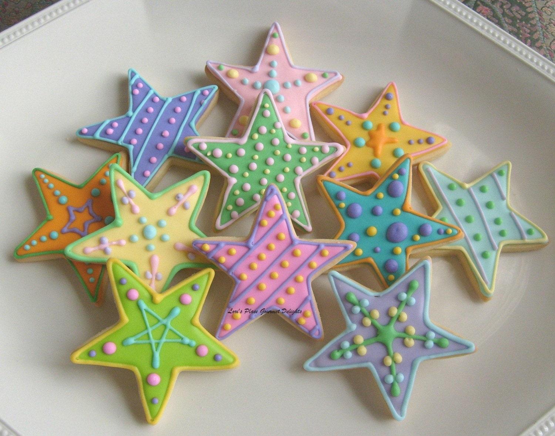Sugar Stars Cake Decorations