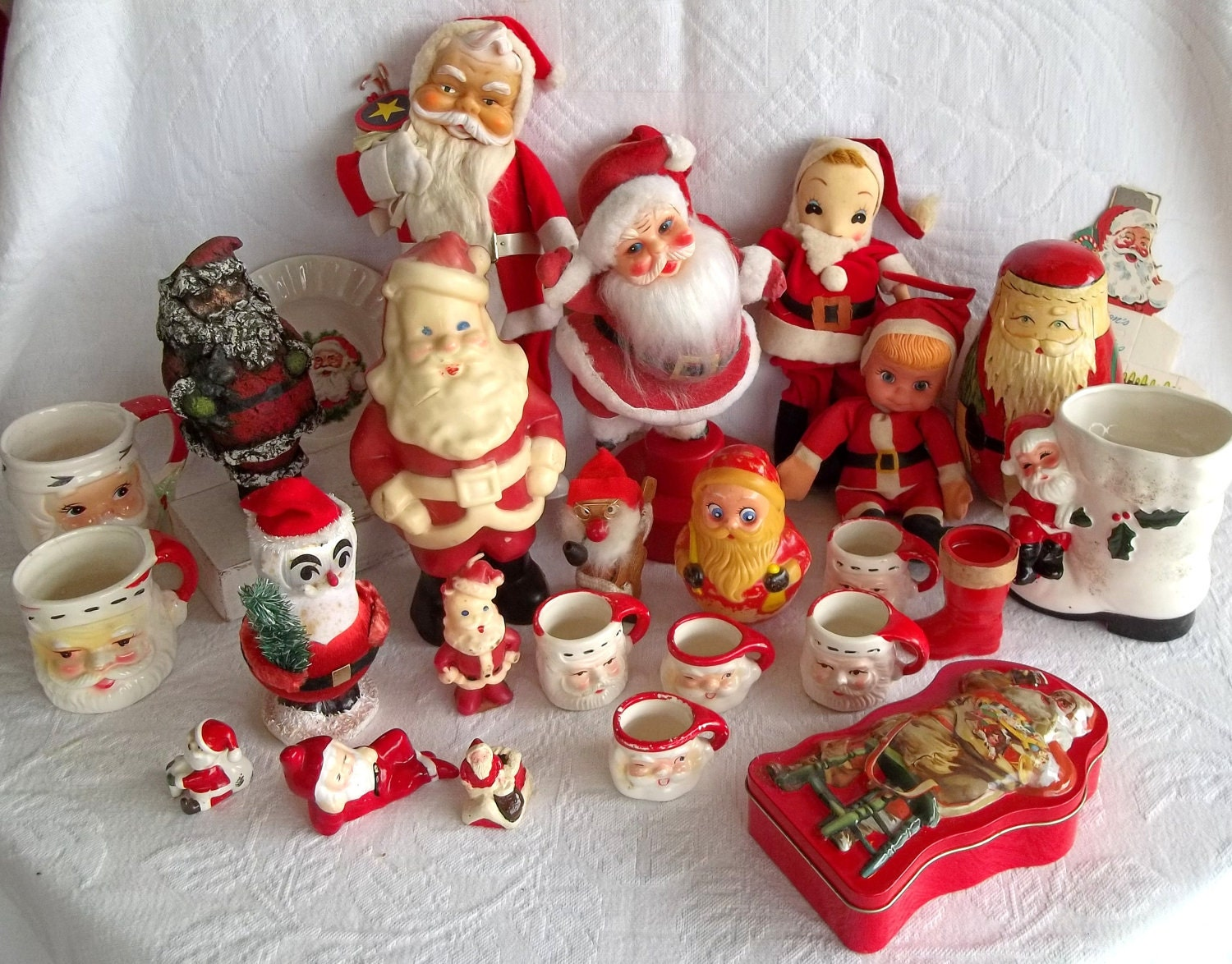 Vintage christmas decorations on pinterest vintage for Decoration retro
