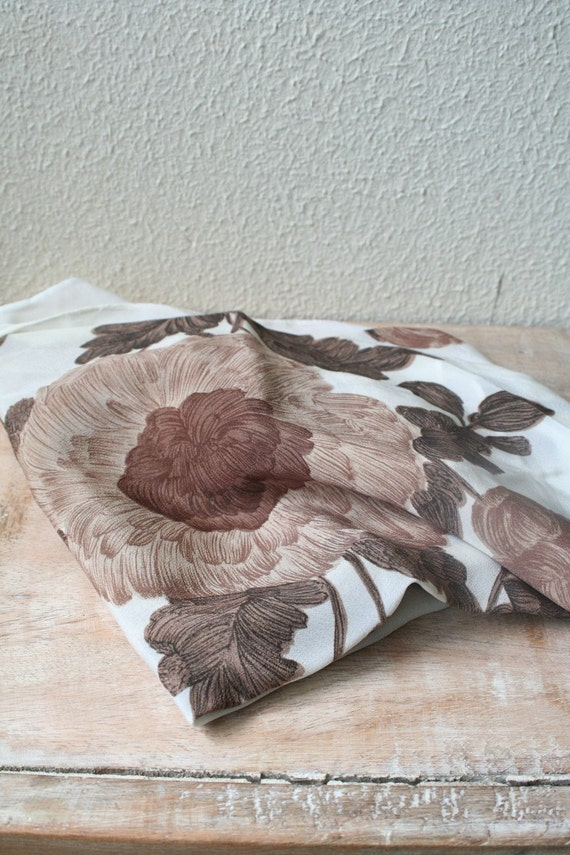 vintage BOTANICAL SILK scarf by nocarnations on Etsy Vintage Silk Scarves Australia