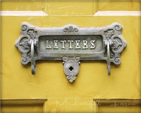 Yellow Letters Original Fine Art 8x10 Photograph Print
