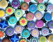 25 Assorted Kaleidoscope Zipper Pulls
