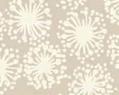 Habitat Dandelion Taupe and White by Michele D'Amore Benartex Fabrics  - 1 Yard - TreasureBayFabric