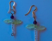 Dragonfly Moon Goddess Earrings from The Leaf Collection