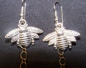 Bee Free Earrings hand-made whimsical Bumble Bees