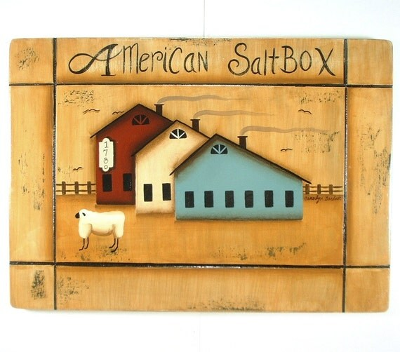Sign Americana Barns Hand Painted Grooved Wood Plaque 463