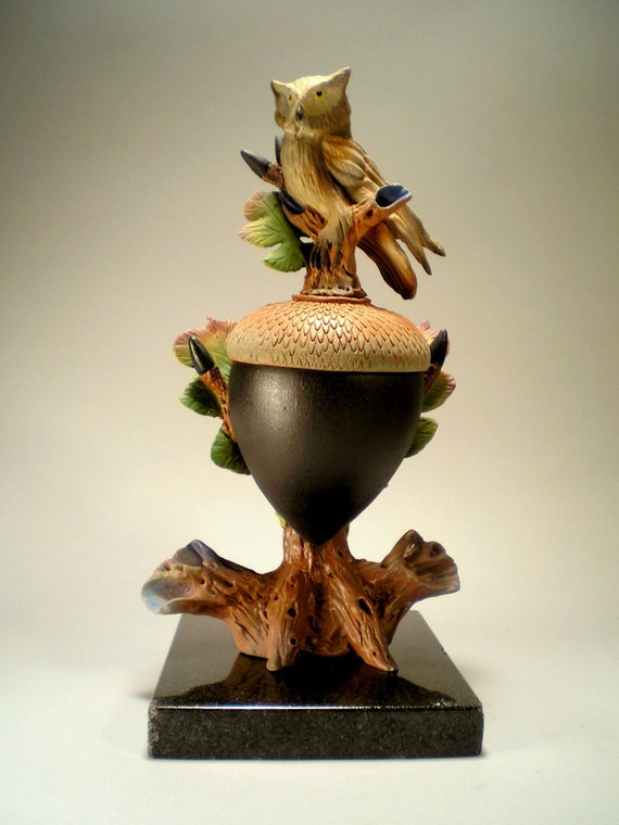 Сова Тотем Черный Acorn Box