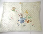 1950s Jack and Jill Pillowcase- child's room - BuckarooBear