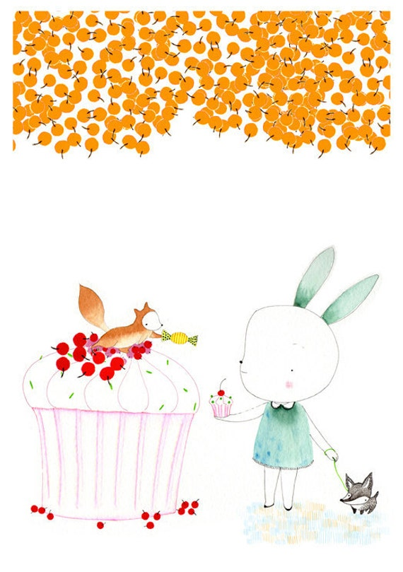 Sweet Bunny - Squirrel - Little Dog - Currants and Cupcakes