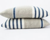 Indigo Stripe Balsam Sachets, French Country Home, Grey White and Indigo, Nautical, Rustic Farmhouse - Gardenmis