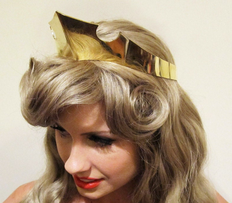 Princess Aurora Sleeping Beauty Adult Costume Crown Polished Brass A True ...