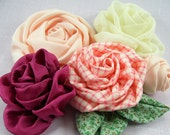 Roses on the Bias Fabric Flower PDF Tutorial ... NEW