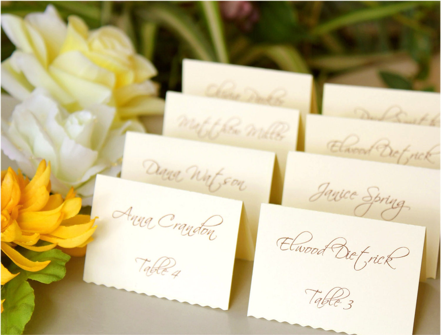 Table place cards ideas car interior design Unique place card ideas