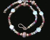 Lampwork, Czech Glass and Silver, Sea Dreams Necklace,  OOAK