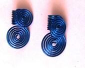 One Pair Dreadlocks Jewelry - Metallic Blue - Double Dutch For Fat Locks