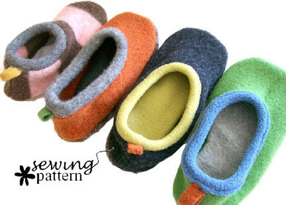Wool Sweater Slipper PDF Pattern