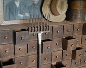 Primitive 64 Drawer Apothecary Cupboard - redroosterbab