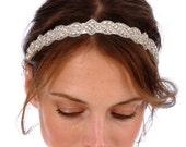 130 - CARLY Headband -  bridal, rhinestone, crystal, veil, wedding, tiara, head piece, Swarovski