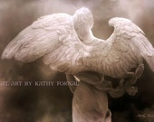 "Angel Art - Surreal Angel Wings - Fine Art Photography - Pink Angel Wings - Romantic Angel Art - Fine Art Photography 6"" x 9"" - KathyFornal"