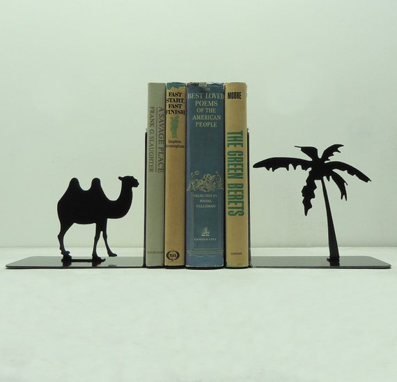Camel Metal Art Bookends - Free USA Shipping