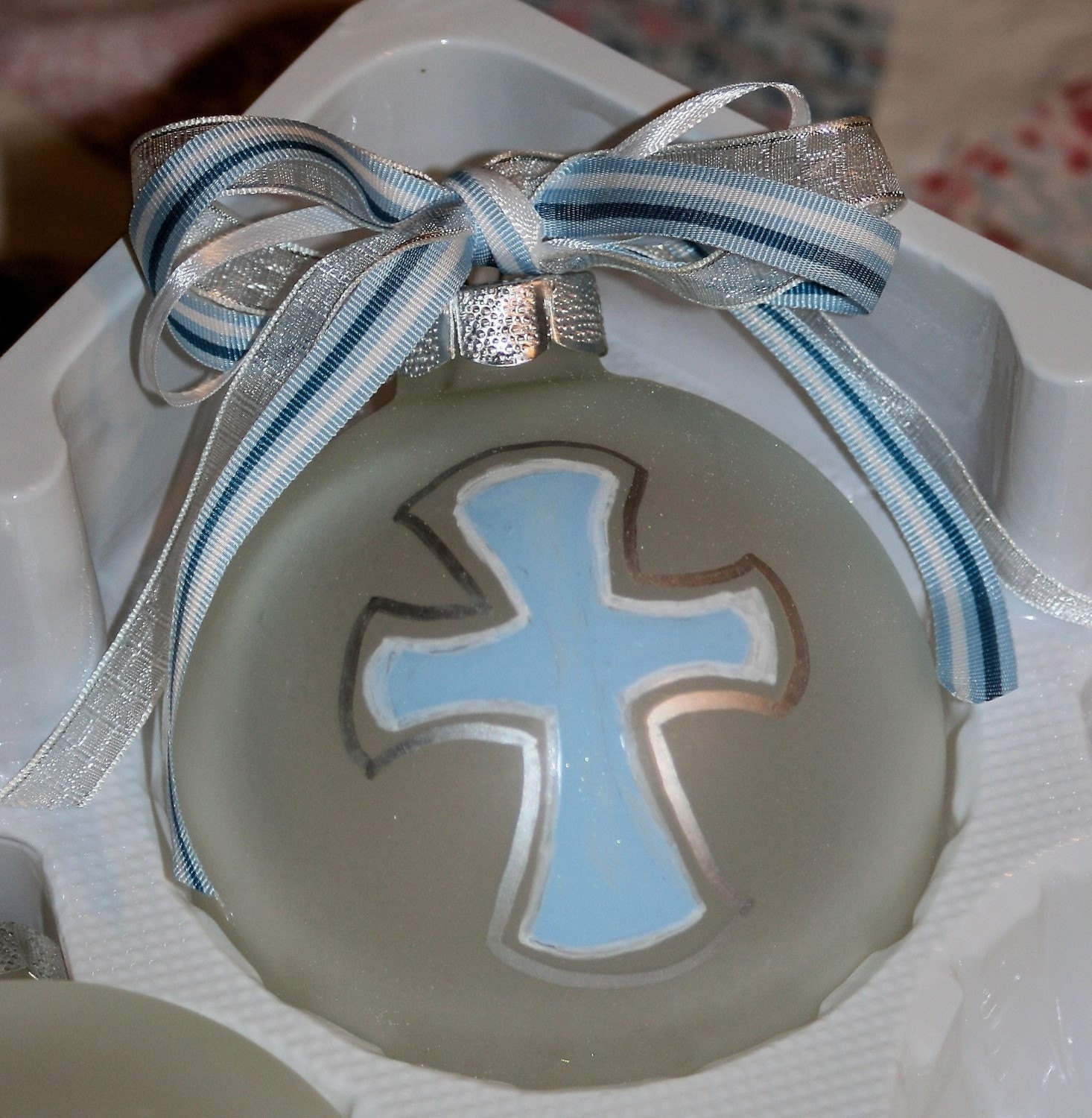 Baptism Christening Baby Metal Ornament: Baptism Baby Dedication Ornament From Thedoodlebrush