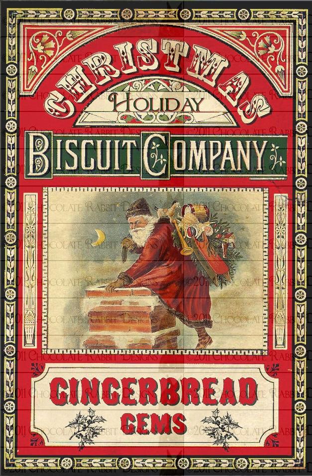 Victorian Christmas Gingerbread Digital Download Label Printable ...