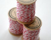 Packaging Twine - 30 Yards on Wooden Spool - Lipstick Pink - InTheClear
