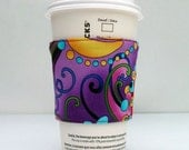 Coffee Cup Cozy Sleeve - Mod Floral