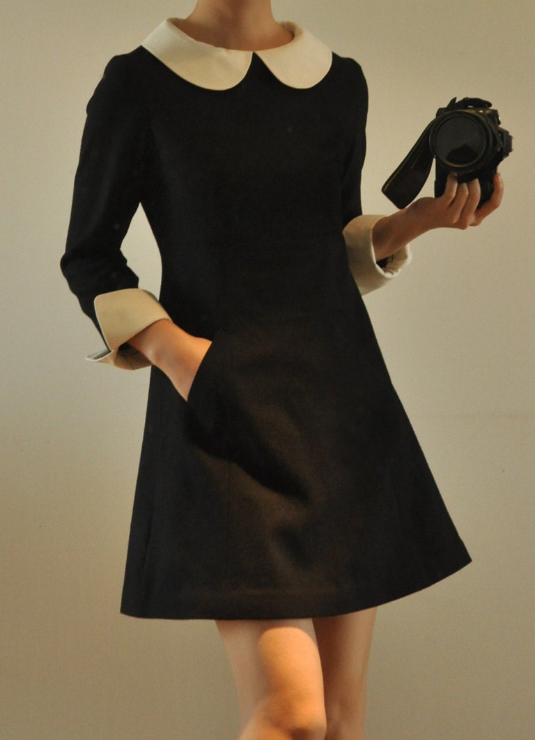Black Dress With White Collar Cocktail Dresses 2016