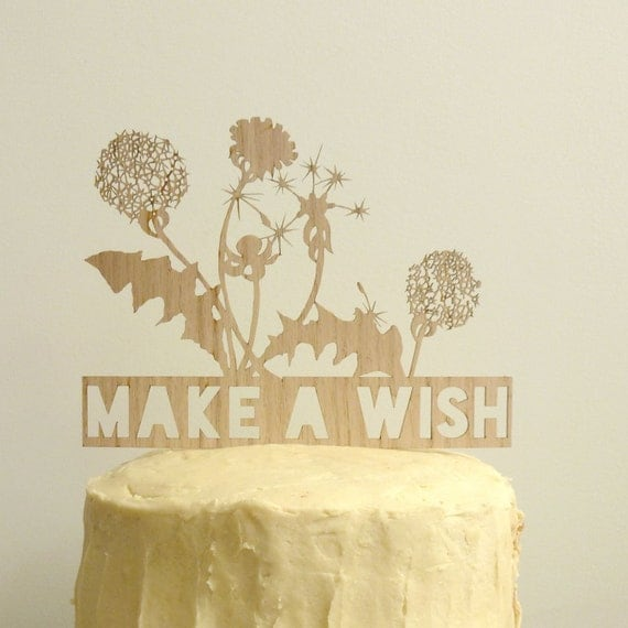 Make A Wish Birthday Cake Topper