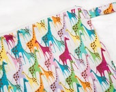 Girlie Giraffes - 10x10 Sweet Bobbins Wet Bag - SEAM SEALED - Snap Strap - Boutique Quality