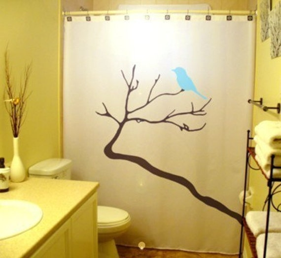 Shower Curtains With Birds | Interior Decorating
