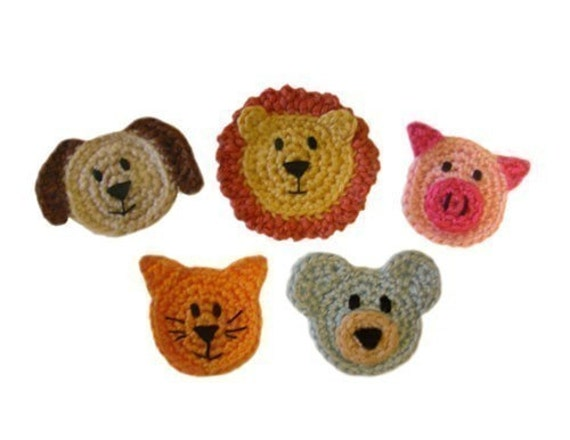 Animal Appliques - PDF Crochet Pattern