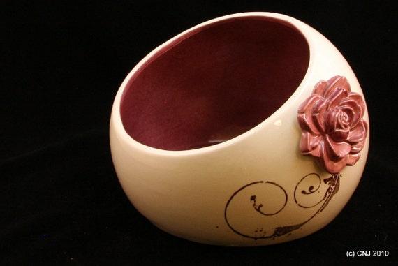 Rustic Modern Rose Bowl / Ceramic Tableware / Contemporary Functional Ceramics for Your Home
