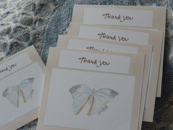 Note Card - Thank You Tag SeT Butterfly