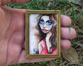Miniature Painting by VaKaDi Original Tiny Artwork