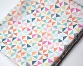 pinwheels  - pastel fabric - fat quarter - triangle fabric - geometric fabric - KatherineCodega