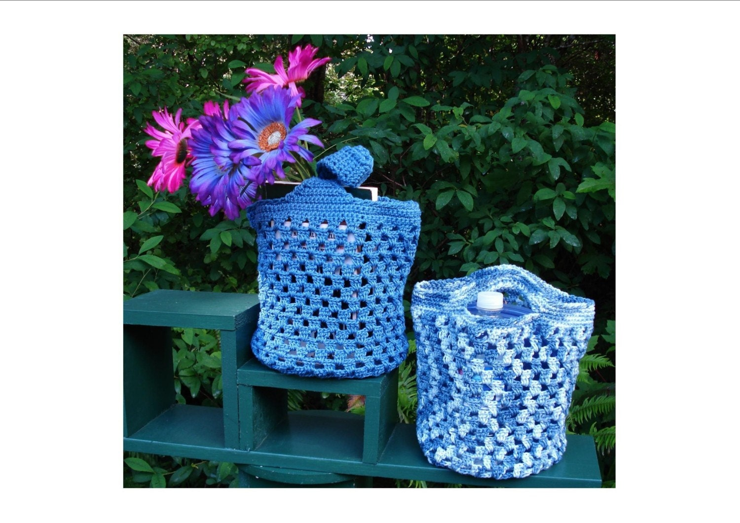 Easy Crochet Mesh Bag Pattern : BAG CROCHETED MESH PATTERN TOTE Crochet Patterns
