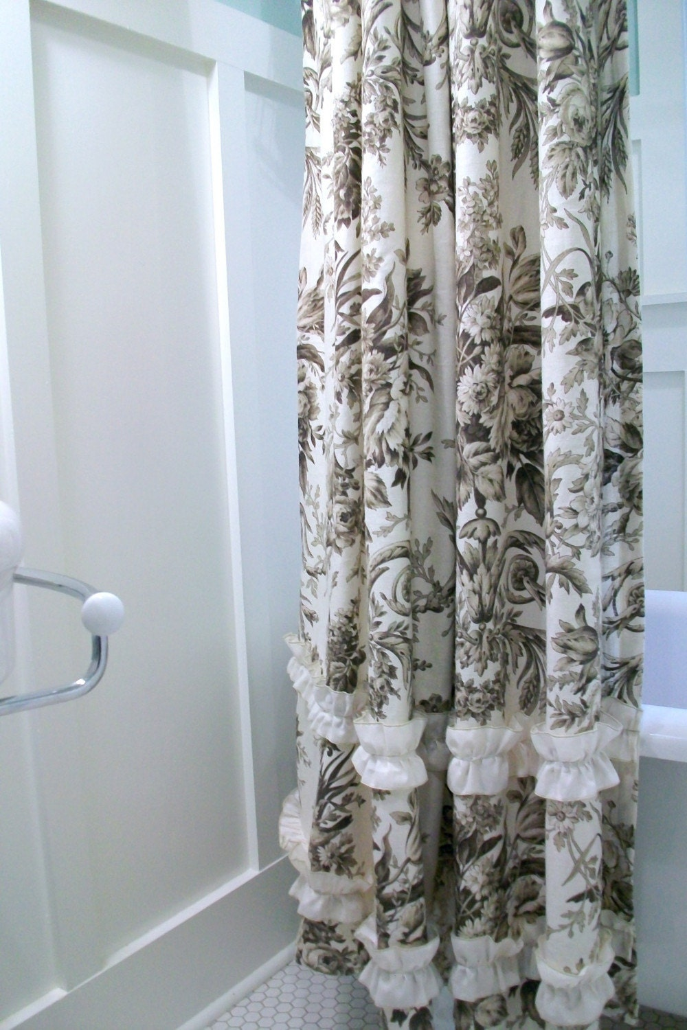 Green And Brown Bathroom Shower Curtain Viewing Gallery