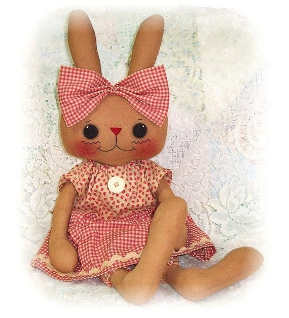 Thumpelina Bunny Rabbit PDF Rag Doll Sewing Pattern ePattern