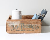 vintage wood packaging crate / industrial storage - AMradio