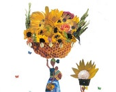 Honey Comb Basket 11X 14 Art Print