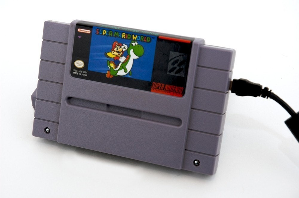 Super NES External Hard Drive - Super Mario World - 1TB USB 3.0 by 8BitMemory